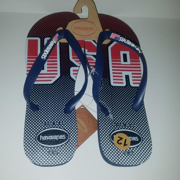 2b17a9efb5ed79 Havaianas Men s USA Flip Flops Size 11 12 NWT